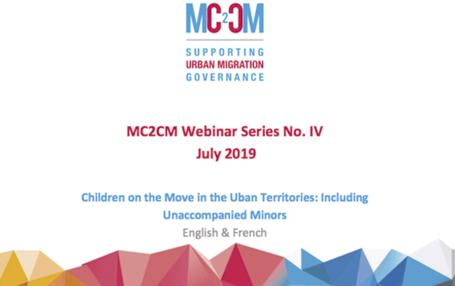 """Webinar """"Niños y jóvenes migrantes en territorios urbanos: Por un enfoque inclusivo sobre menores extranjeros no acompañados (MENAs)"""""""