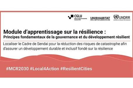 Les nouveaux modules d'apprentissage de la résilience se concentrent sur le rôle clé de la gouvernance locale dans la RRC et le renforcement de la résilience