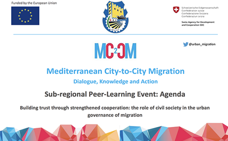 [MC2CM] Sub-regional Peer-Learning Event: Building trust through strengthened cooperation: the role of civil society in the urban governance of migration