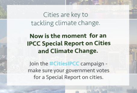For an IPCC Special Report on Cities and Climate Change