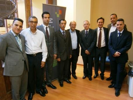 delegación de electos tunecinos visita la sede de CGLU en Barcelona