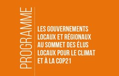 Programme CGLU au Sommet des élus locaux pour le climat et a la COP21