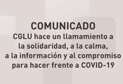 COMUNICADO - CGLU hace un llamamiento a  la solidaridad, a la calma,  a la información y al compromiso para hacer frente a COVID-19