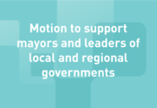 Motion to support mayors and leaders of local and regional governments representatives