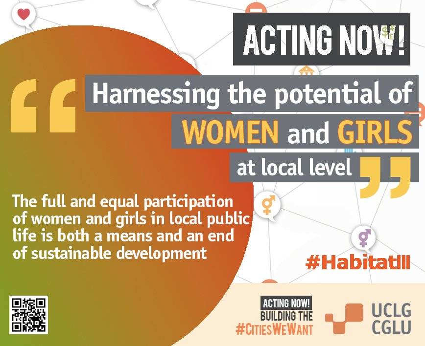 Acting Now: Harnessing the potential of WOMEN and GIRLS at local level